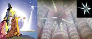 Superman Jesus Similarities - superman's starship looks like a star!