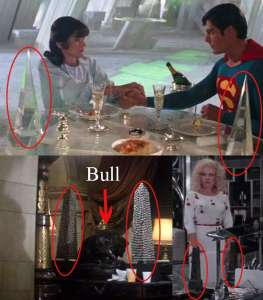Superman Occult Symbolism Obelisks are displayed in 3 Superman movies.