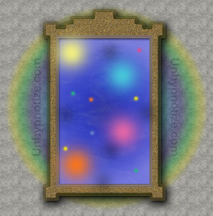 A depiction of a portal, as in a doorway or a mirror. Doorways, closets, and mirrors are common places for portals to open up.