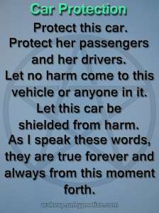 Protection Chant for protecting a car or other vehicle.