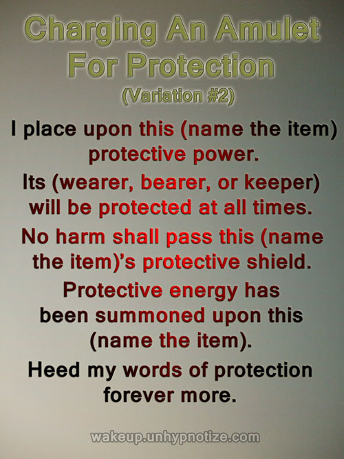 Protection Chants For Protection Spells - Wake up and