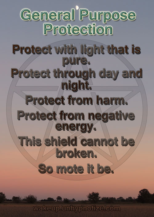 Protection Chants For Protection Spells Wake Up And Unhypnotize