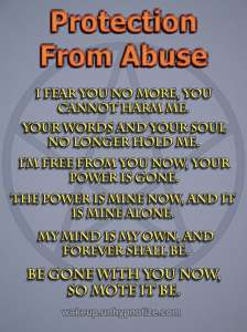 Protection Chant to protect against someone who is abusive, and/or against abuse in general.