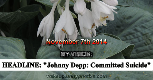 "My vision of headline ""Johnny Depp: Committed Suicide"""